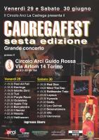 CADREGAFEST 2012 sesta edizione Venerdì 29 - Sabato 30 -