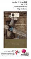 """presentazione del libro dal titolo: """" JORGE E IL MATERASSO """" diario di viaggio tra Buenos Aires e Torino"""